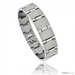 Stainless Steel Men's Bar Bracelet, 5/8 in wide, 8 in