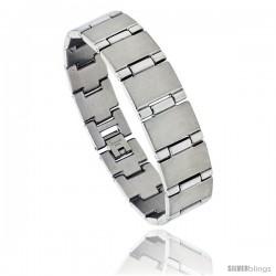 Stainless Steel Men's Bar Bracelet, 5/8 in wide, 8 in