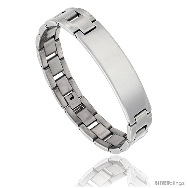 https://www.silverblings.com/1018-thickbox_default/stainless-steel-mens-h-link-id-bar-bracelet-1-2-in-wide-8-in.jpg