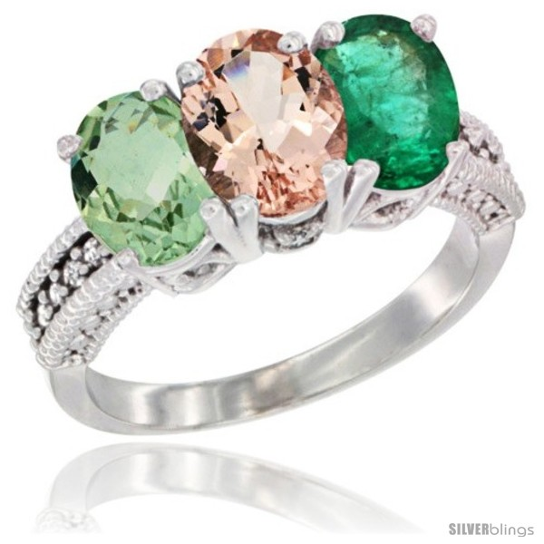 https://www.silverblings.com/10408-thickbox_default/14k-white-gold-natural-green-amethyst-morganite-emerald-ring-3-stone-7x5-mm-oval-diamond-accent.jpg