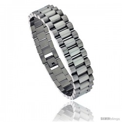 Stainless Steel Men's Rolex Style Bracelet, 5/8 in wide, 8.5 in