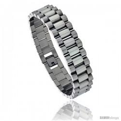 Stainless Steel Men's Rolex Style Bracelet, 5/8 in wide, 8.5 in