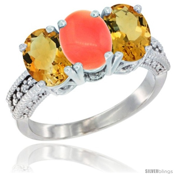 https://www.silverblings.com/1109-thickbox_default/14k-white-gold-natural-coral-citrine-sides-ring-3-stone-7x5-mm-oval-diamond-accent.jpg