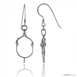 "Sterling Silver Spur Strap Drop Earrings, 1"" (26 mm) tall"