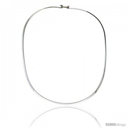 Sterling Silver 2.5 mm Wire Chocker with clasp