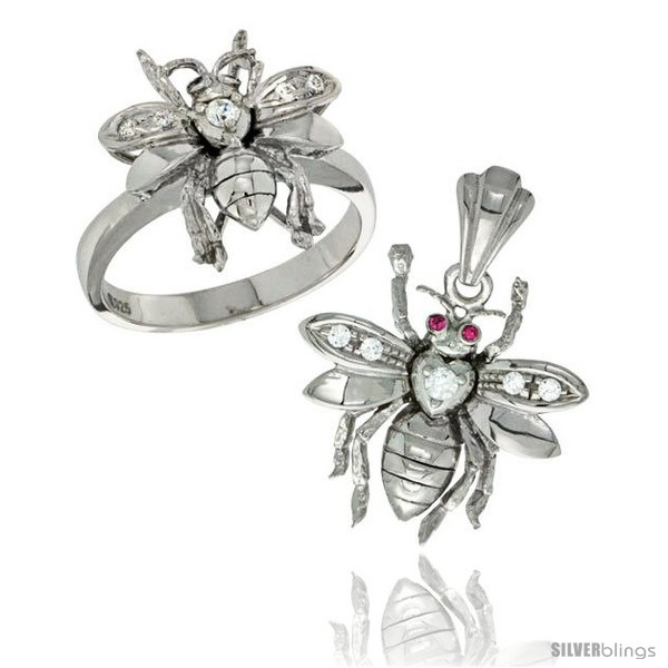 https://www.silverblings.com/12137-thickbox_default/sterling-silver-bee-ring-pendant-set-cz-stones-rhodium-finished.jpg