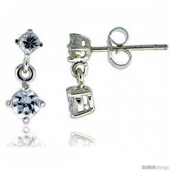Sterling Silver / Cubic Zirconia Dangle Earrings