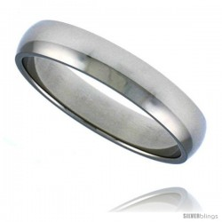 Surgical Steel 1/8 in (4mm) Polished Domed Band
