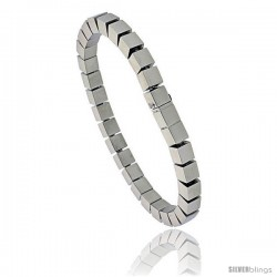 Stainless Steel Cubes Bracelet 1/4 in wide, 7.5 in