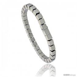 Stainless Steel Cubes Bracelet 1/4 in wide, 7.5 in