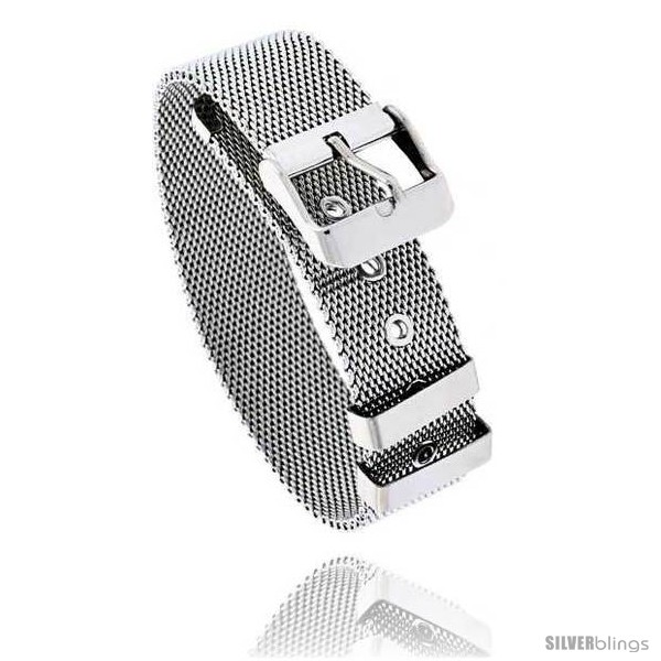 https://www.silverblings.com/1282-thickbox_default/stainless-steel-belt-buckle-mesh-bracelet-7-5-in-long.jpg