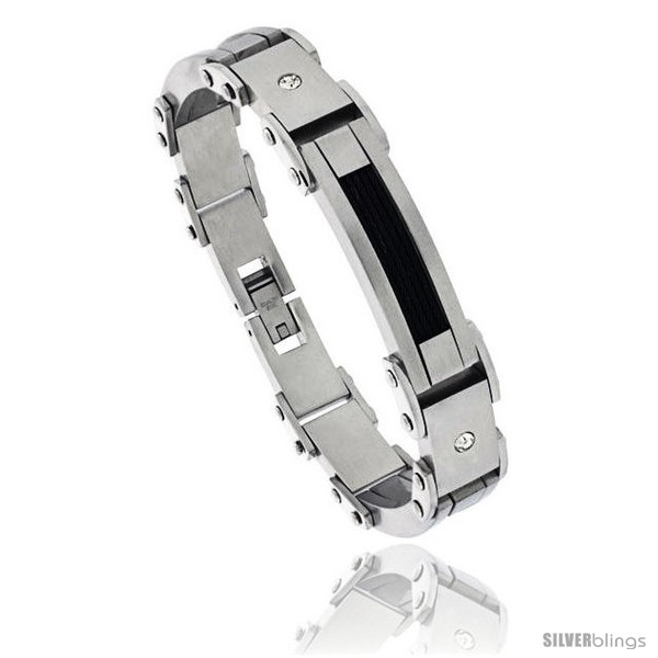 https://www.silverblings.com/1286-thickbox_default/stainless-steel-mens-cable-bracelet-black-finish-crystals-accent-8-1-2-in.jpg