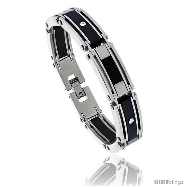 https://www.silverblings.com/1292-thickbox_default/stainless-steel-mens-cable-bracelet-black-finish-crystals-accent-8-1-2-in-style-bss417.jpg