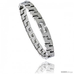 Stainless Steel Men's S Link Bracelet, 8 in long