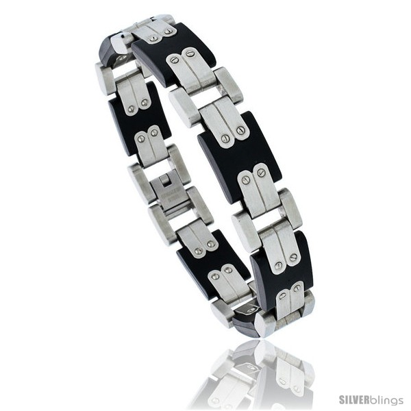 https://www.silverblings.com/1308-thickbox_default/stainless-steel-contemporary-mens-black-rubber-bracelet-8-in-long.jpg