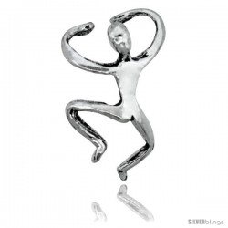 Sterling Silver Man Cuff Earring (one piece) 5/8 in