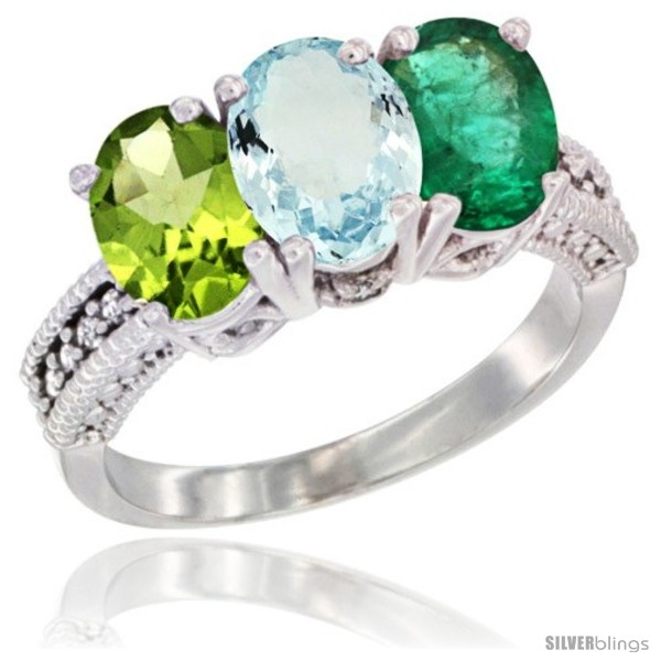 https://www.silverblings.com/13255-thickbox_default/14k-white-gold-natural-peridot-aquamarine-emerald-ring-3-stone-7x5-mm-oval-diamond-accent.jpg