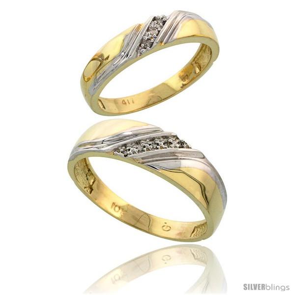 https://www.silverblings.com/13282-thickbox_default/10k-yellow-gold-diamond-2-piece-wedding-ring-set-his-6mm-hers-4-5mm.jpg