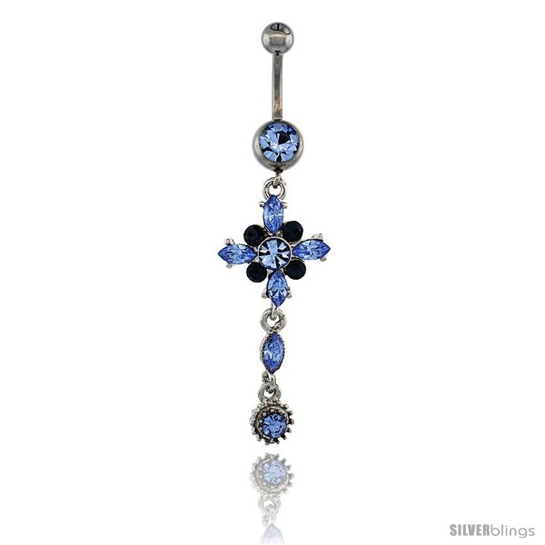 https://www.silverblings.com/13324-thickbox_default/surgical-steel-flower-belly-button-ring-w-blue-crystals-2-in-50-mm-tall-navel-piercing-body-jewelry.jpg