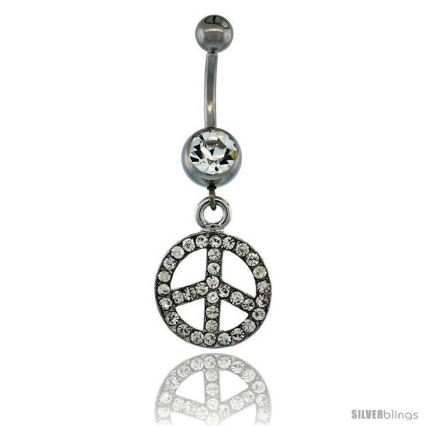 https://www.silverblings.com/13360-thickbox_default/surgical-steel-dangle-peace-sign-belly-button-ring-w-crystals-1-1-2-in-38-mm-tall-navel-piercing-body-jewelry.jpg