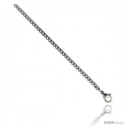 Stainless Steel Curb Link Cuban Chain Necklace 3.5 mm (5/32 in) wide