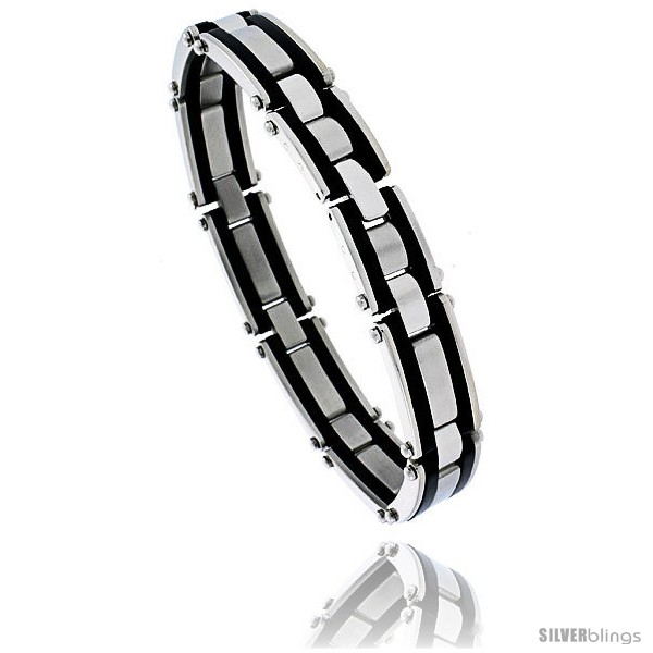 https://www.silverblings.com/1346-thickbox_default/stainless-steel-solid-link-and-rubber-bracelet-1-2-in-wide-8-1-4-in-long.jpg