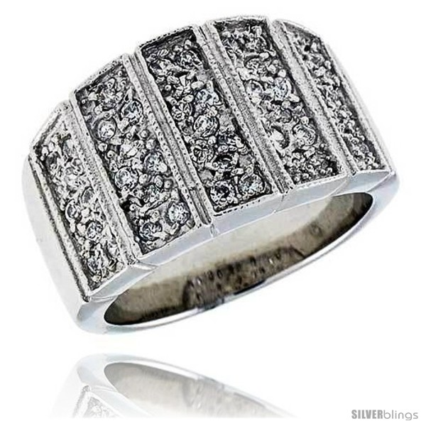 https://www.silverblings.com/13534-thickbox_default/sterling-silver-rhodium-plated-band-w-tiny-high-quality-czs-9-16-14-mm-wide.jpg