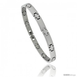 Solid Stainless Steel Link Bracelet, 8 in long -Style Bss6