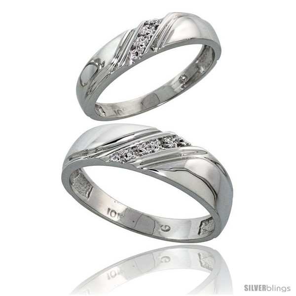 https://www.silverblings.com/13540-thickbox_default/10k-white-gold-diamond-wedding-rings-2-piece-set-for-him-6-mm-her-4-5-mm-0-05-cttw-brilliant-cut.jpg