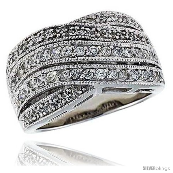 https://www.silverblings.com/13574-thickbox_default/sterling-silver-rhodium-plated-freeform-ring-w-tiny-high-quality-czs-1-2-13-mm-wide.jpg