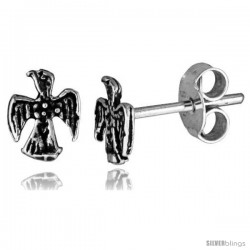 Tiny Sterling Silver Eagle Stud Earrings