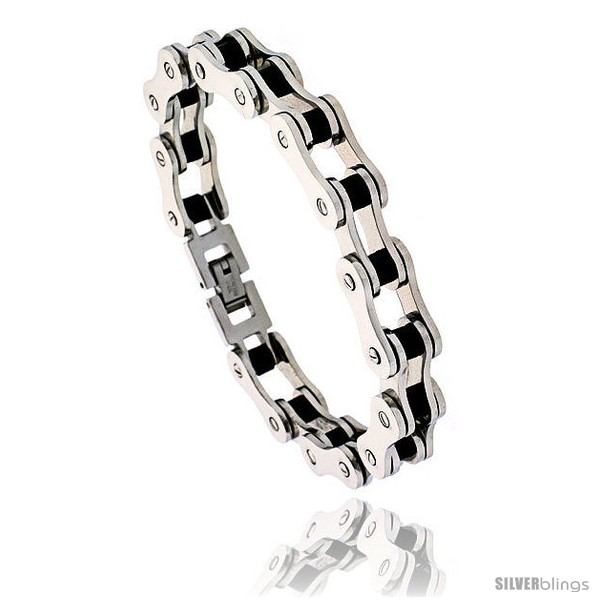https://www.silverblings.com/1380-thickbox_default/stainless-steel-solid-link-rubber-bicycle-chain-bracelet-1-2-in-wide.jpg