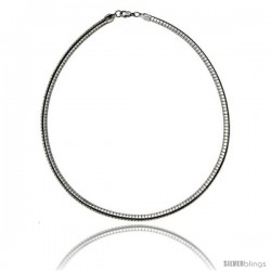 Stainless Steel Omega Necklace 6 mm (1/4 in)
