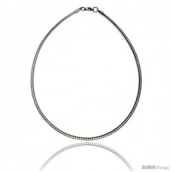 Stainless Steel Omega Necklace 4 mm (5/32 in) wide