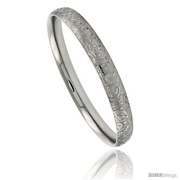 https://www.silverblings.com/1386-thickbox_default/stainless-steel-slip-on-bangle-bracelet-laser-etched-floral-pattern-5-1-6-in-wide-size-7-5-in.jpg