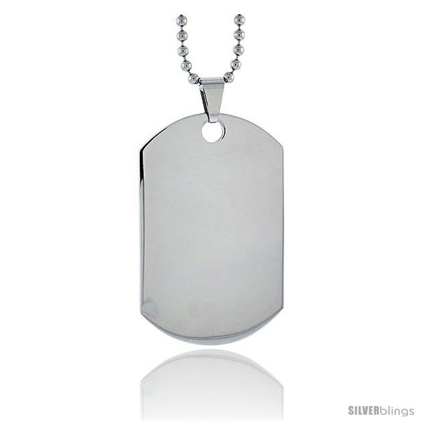 https://www.silverblings.com/13874-thickbox_default/stainless-steel-dog-tag-heavy-gauge-full-size-2-x-1-1-4-in-24-in-2-mm-ball-chain.jpg