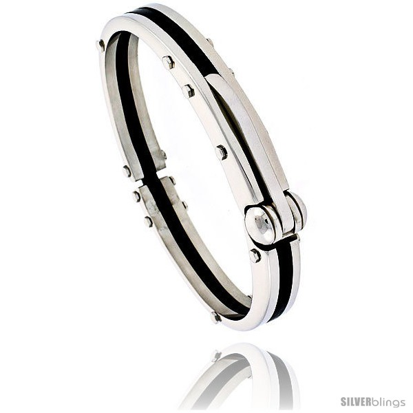 https://www.silverblings.com/1392-thickbox_default/stainless-steel-rubber-bangle-bracelet-3-8-in-wide-8-in-long.jpg