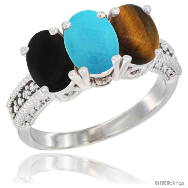 https://www.silverblings.com/14069-thickbox_default/10k-white-gold-natural-black-onyx-turquoise-tiger-eye-ring-3-stone-oval-7x5-mm-diamond-accent.jpg