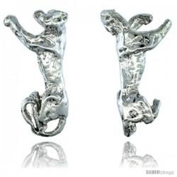 Sterling Silver Leopard Cuff Earring, 1 intall