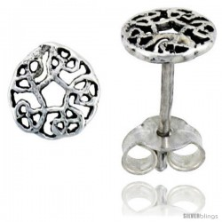 Sterling Silver Celtic Knot Stud Earrings, 1/4 in -Style Es411