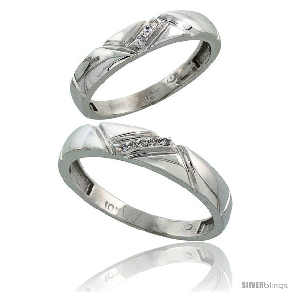 https://www.silverblings.com/14239-thickbox_default/10k-white-gold-diamond-wedding-rings-2-piece-set-for-him-4-5-mm-her-4-mm-0-05-cttw-brilliant-cut.jpg