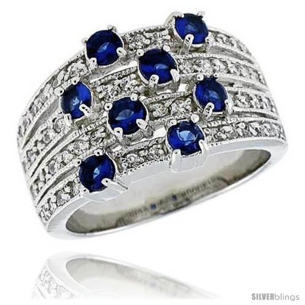 https://www.silverblings.com/14300-thickbox_default/sterling-silver-rhodium-plated-dome-band-w-eight-3mm-high-quality-sapphire-czs-1-2-13-mm-wide.jpg