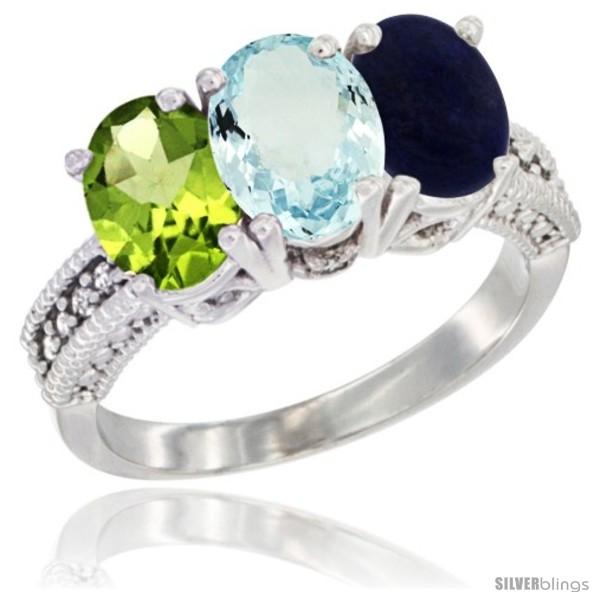 https://www.silverblings.com/14327-thickbox_default/14k-white-gold-natural-peridot-aquamarine-lapis-ring-3-stone-oval-7x5-mm-diamond-accent.jpg