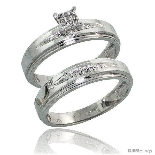 https://www.silverblings.com/14602-thickbox_default/10k-white-gold-diamond-engagement-rings-set-2-piece-0-08-cttw-brilliant-cut-3-16-in-wide-style-10w013e2.jpg
