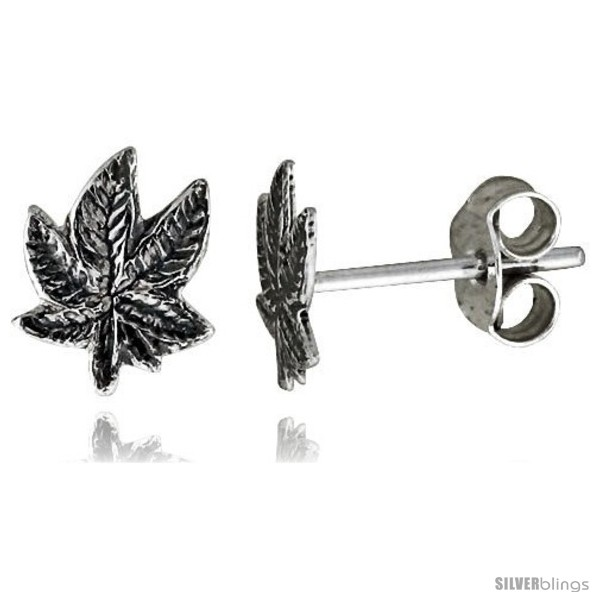 https://www.silverblings.com/14698-thickbox_default/tiny-sterling-silver-leaf-stud-earrings-5-16-in-style-es63.jpg