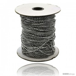 Stainless Steel Bead Ball Chain 1.5 mm 100 Yard Spool -Style Sstol25x100