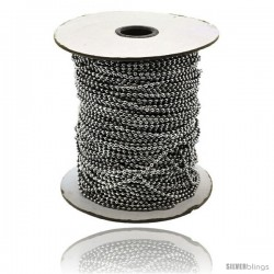 Surgical Steel Bead Ball Chain 1.5 mm 100 Yard Spool -Style Sstol25xl100