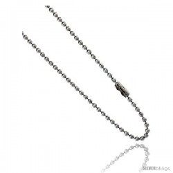 Stainless Steel Bead Ball Chain 2 mm By the Yard