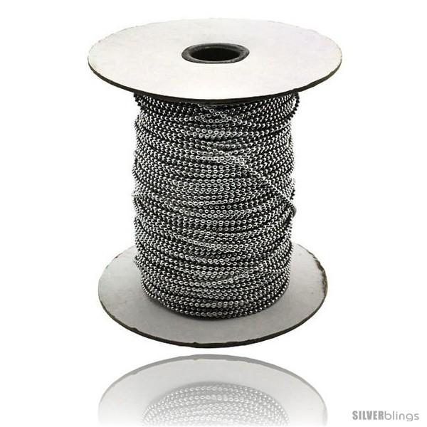https://www.silverblings.com/14983-thickbox_default/surgical-steel-bead-ball-chain-2-mm-100-yard-spool.jpg