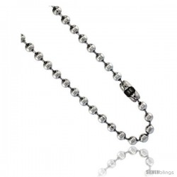 Stainless Steel Bead Ball Chain 5 mm thick available Necklaces Bracelets & Anklets